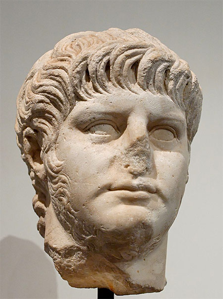 A marble bust of Nero, Antiquarium of the Palatine.