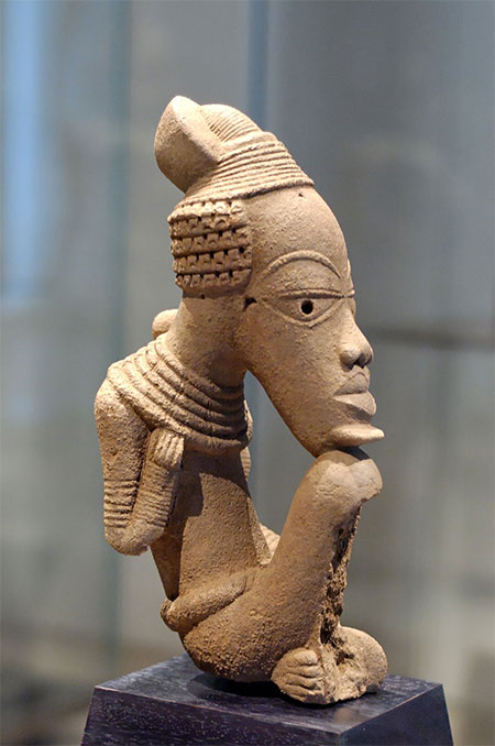 Nok sculpture, terracotta, Louvre