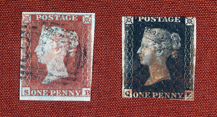 Alpha mail: an original Penny Red and Penny Black