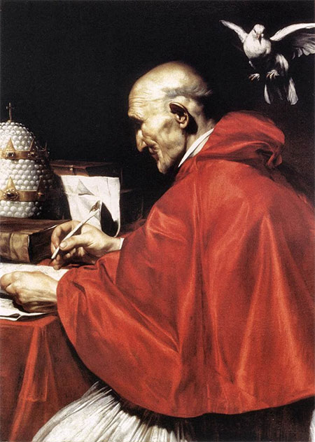 Portrait of Pope Gregory by José de Ribera