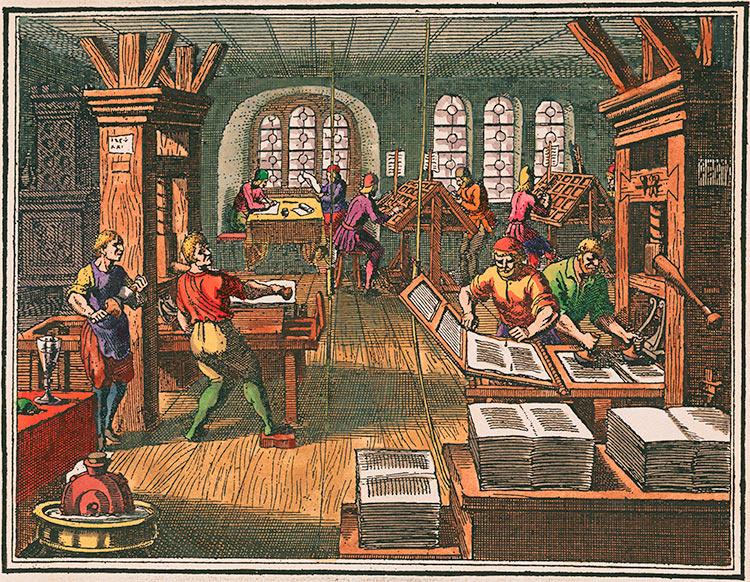 Printing shop, 1632.