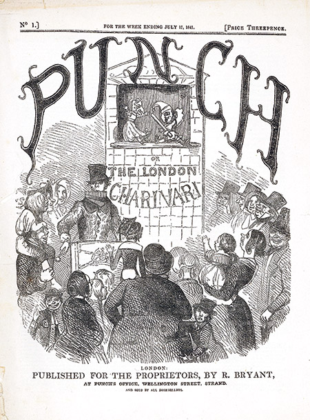 Funny at first: the cover of the opening issue of Punch