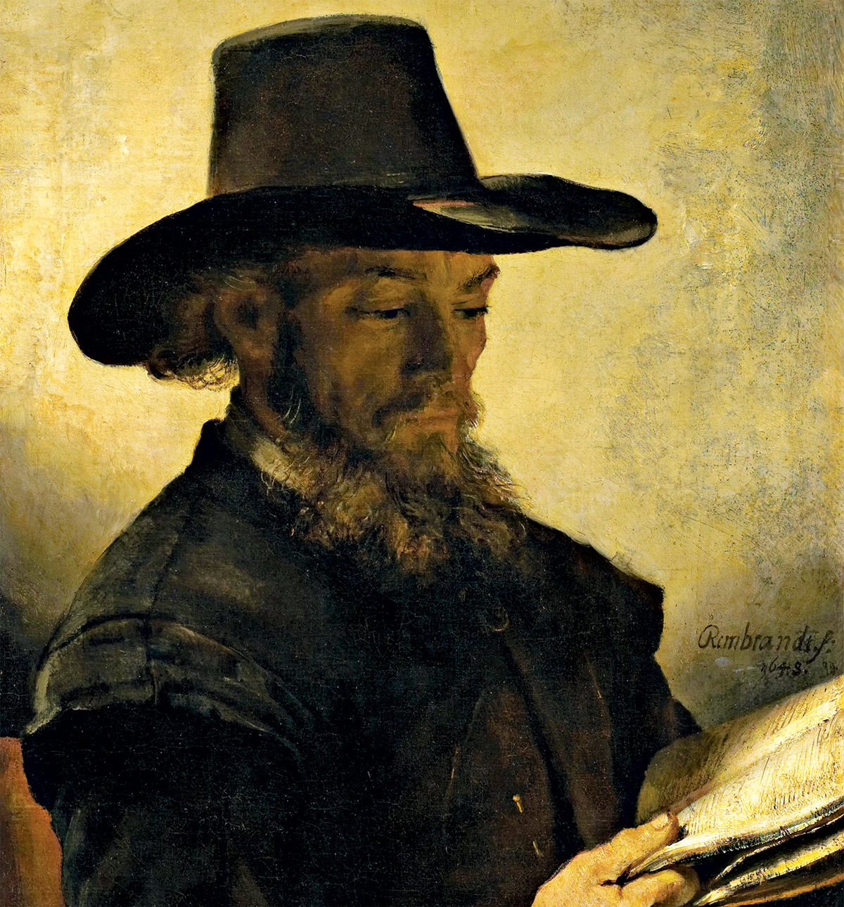 Man Reading, attributed to Rembrandt, c.1648.