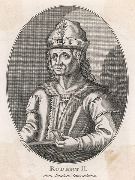 Stewart steward: Robert II in a 16th-century engraving