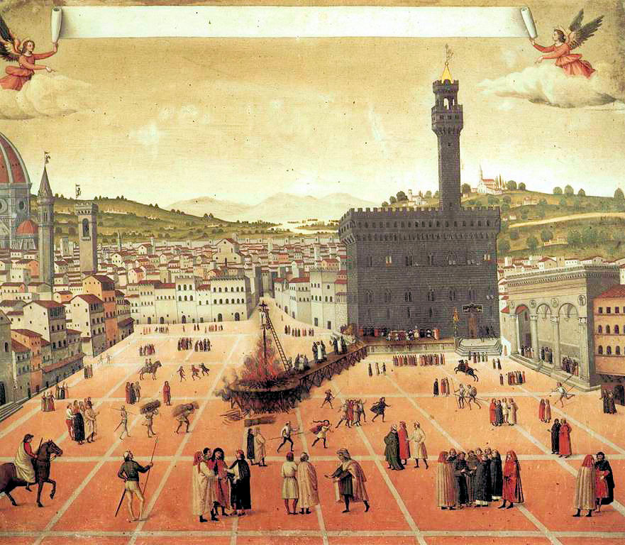 Painting (1650) of Savonarola