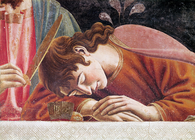 Detail of St John from 'The Last Supper' by Andrea del Castagno, 1447. The Art Archive / Alamy
