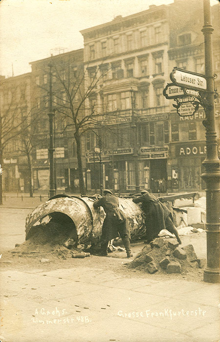 January 1919: Barricade in Berlin during the uprising