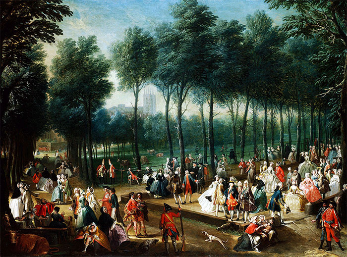 St James's Park, 1745. Attributed to Joseph Nickolls