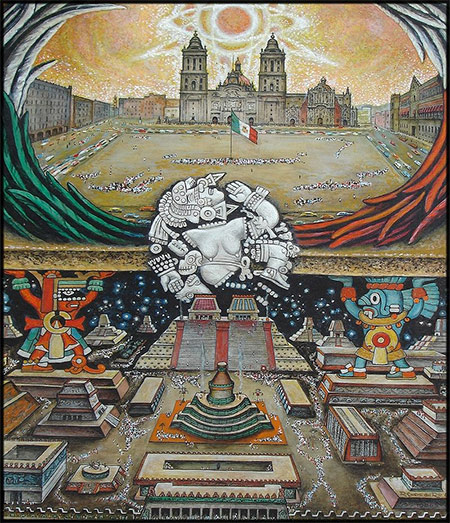 Fundación de México – Tenochtitlán by Roberto Cueva del Río.