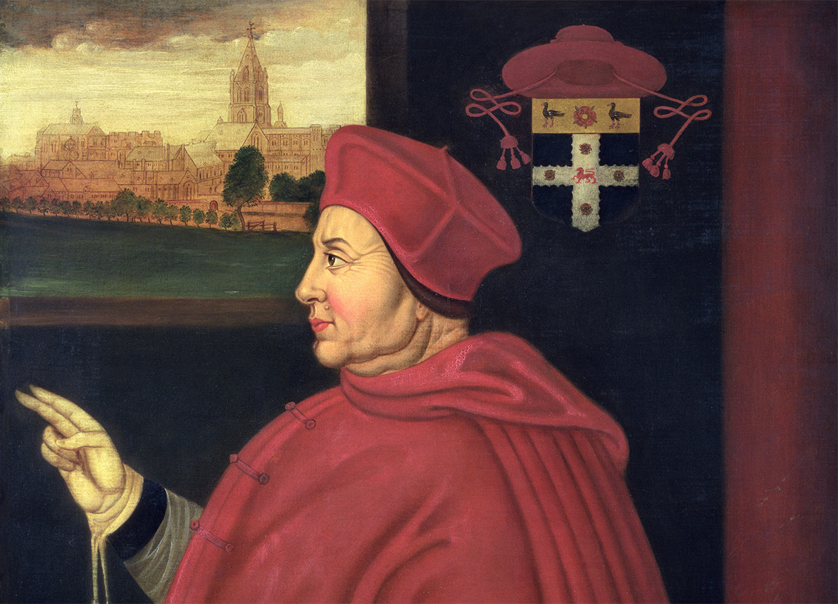 Cardinal virtue: Thomas Wolsey, by Sampson Strong, 16th century. (Bridgeman Images)