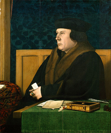 Portrait of Thomas Cromwell, by Hans Holbein the Younger.