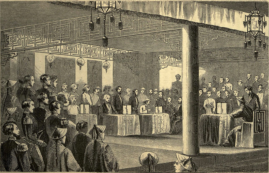 Signing the Treaty, 1858.