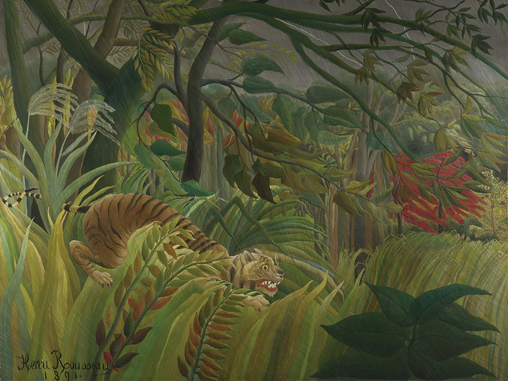 Surprised! by Henri Rousseau, 1891.