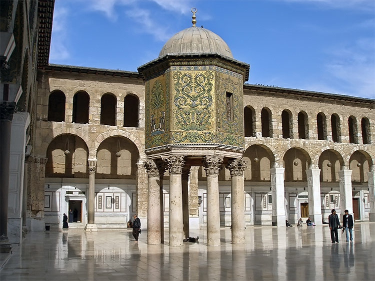 The Dome of the Treasury in the Umayyad Mosque, Damascus, was built in 789. Photo by Roberta F.