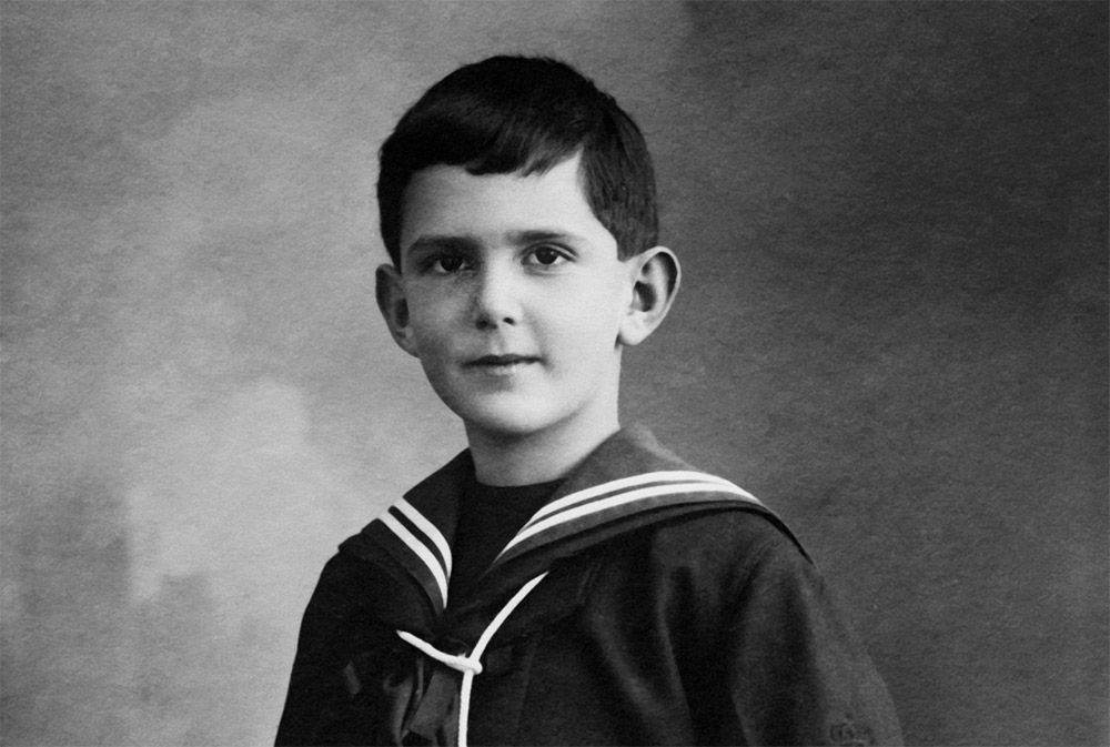 The future king as a young boy.
