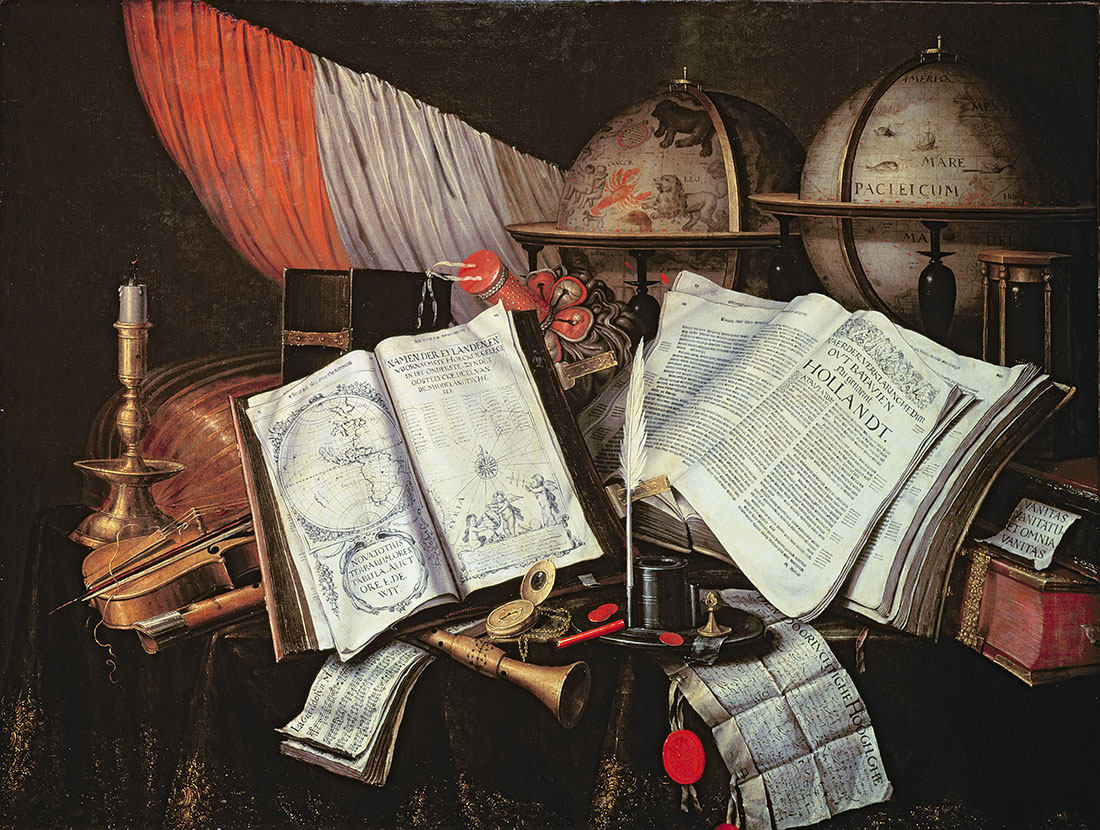 Vanitas, by Edward Collier, late 17th century.