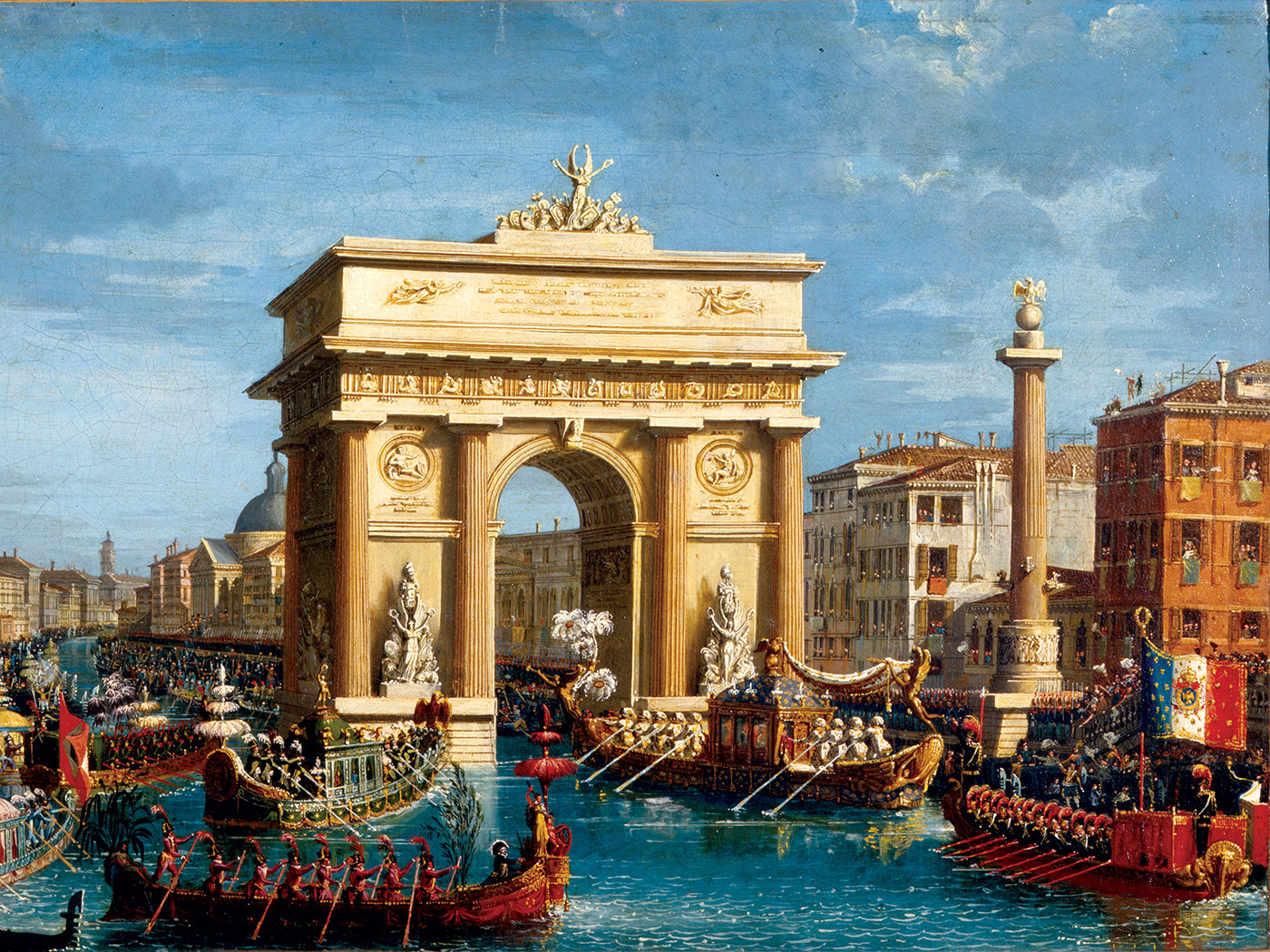 Arrival of Napoleon in Venice, by Giuseppe Borsato, 19th century.