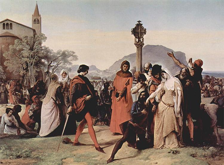 Sicilian Vespers (1846), by Francesco Hayez