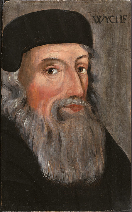 Morning Star of the Reformation: John Wycliffe in a 16th-century portrait.