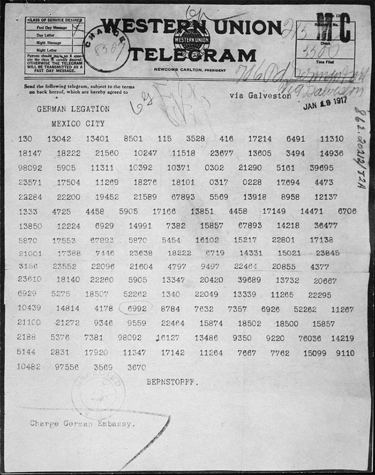 Lucky Break: the Zimmermann Telegram