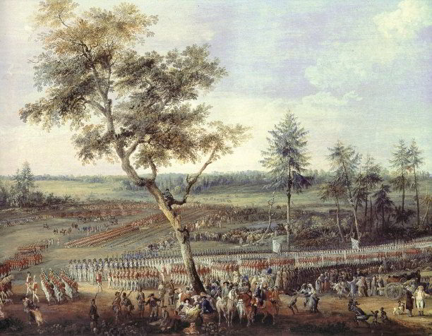 'The Siege of Yorktown, September 30th to October 19th, 1781', by Louis Nicholas van Blarenberghe. Art Archive/Dagli Orti/Musee du Chateau de Versailles.