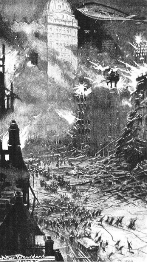 Anarchist terrorists attack New York skyscrapers in George Glendon's 'The Emperor of the Air' (1910)