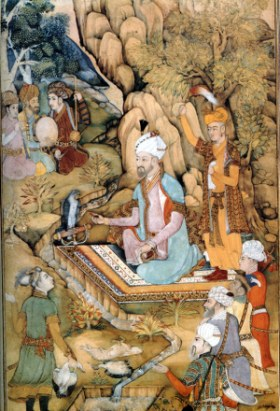 The first Mughal Emperor Babur.