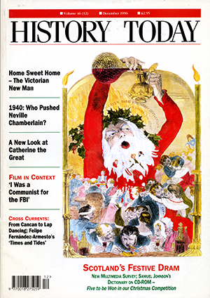 Front cover of the December 1996 issue.
