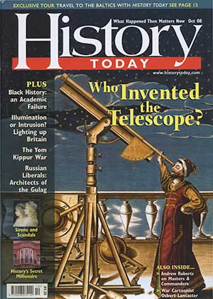 Front cover of the October 2008 issue.