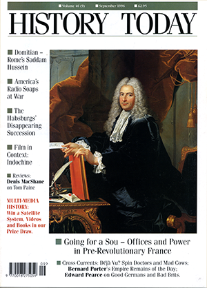 Front cover of the September 1996 issue.