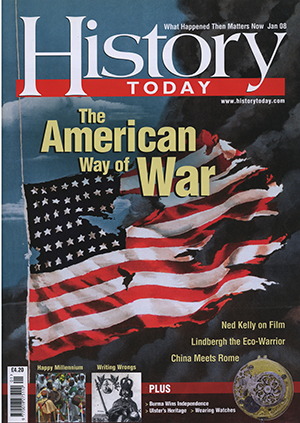Front cover of the January 2008 issue.