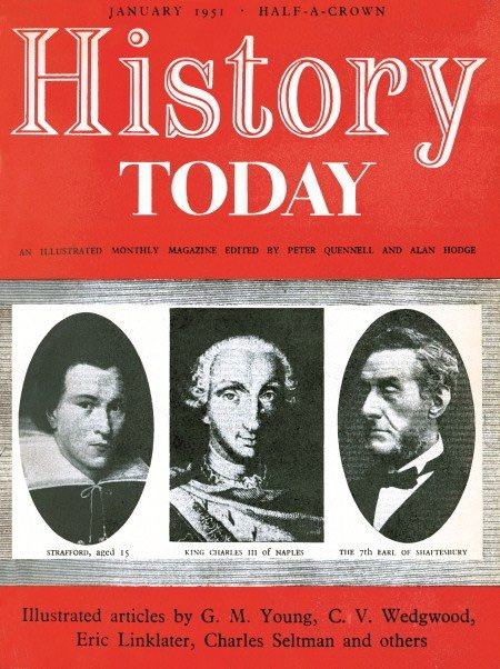 Cover of the first issue of History Today (January 1951)