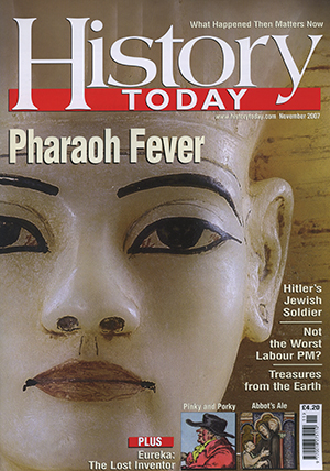 Front cover of the November 2007.