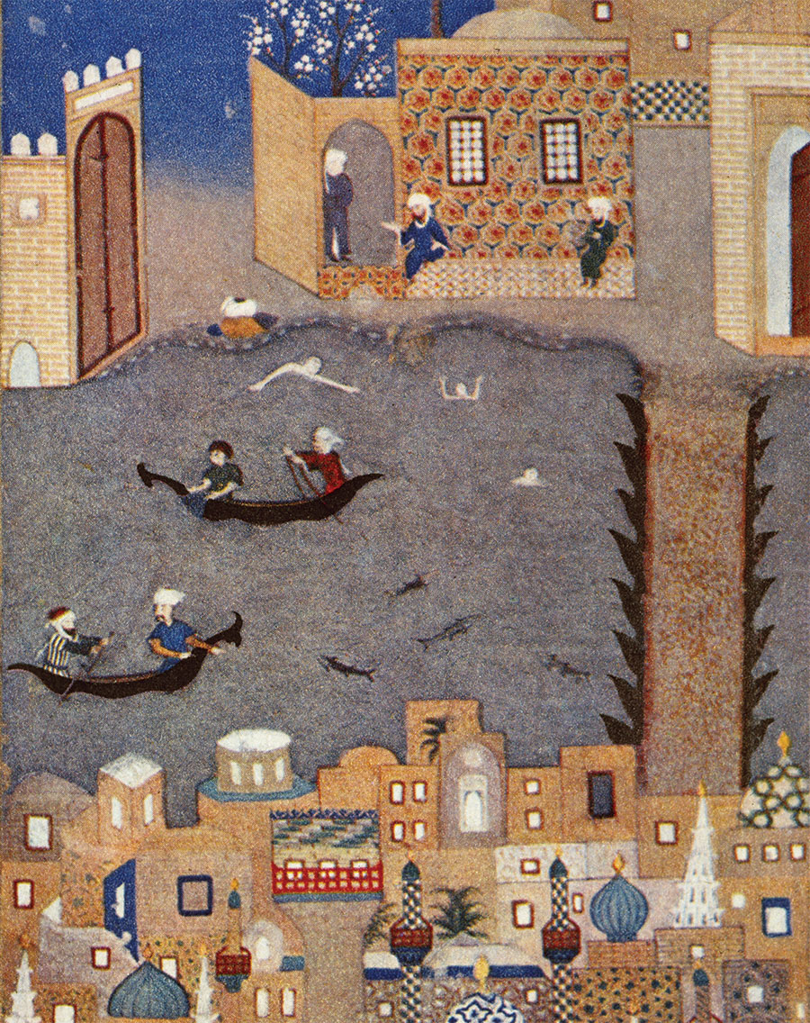 Floods in Baghdad, Shirwan, 1468.