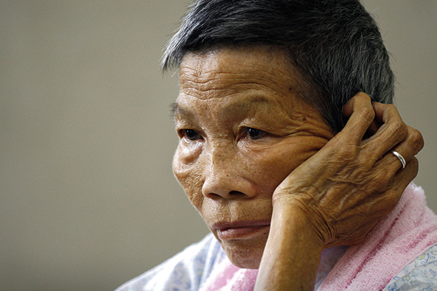 Eyewitness: villager Romen Bose Tham, pictured in 2008. Getty Images/AFP