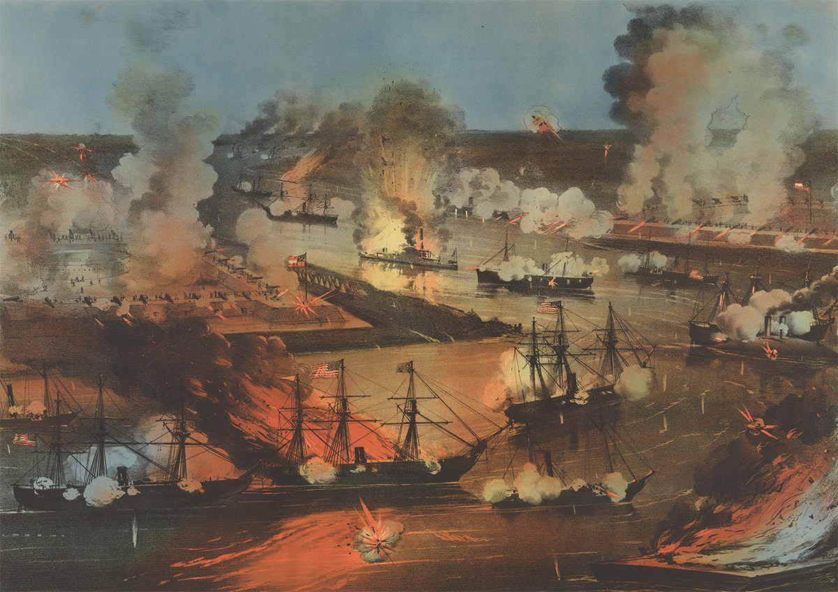 The capture of New Orleans, 24 April 1862.