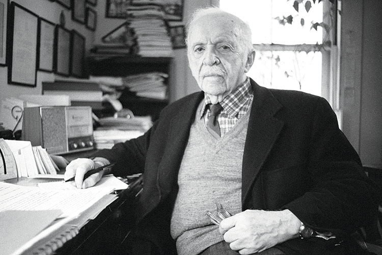 Edward Bernays aged 89, 1981