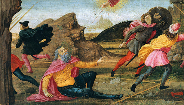 Defining moment: St Paul's conversion depicted in the Sacred Conversation by Domenico Ghirlandaio, 1479.