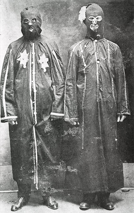 Two disguised Night Riders in Trenton, Tennessee, 1908.