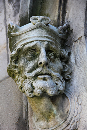 High king: Brian Boru depicted on the exterior of the Chapel Royal, Dublin Castle