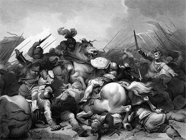 Battle of Bosworth, as depicted by Philip James de Loutherbourg (1740–1812)
