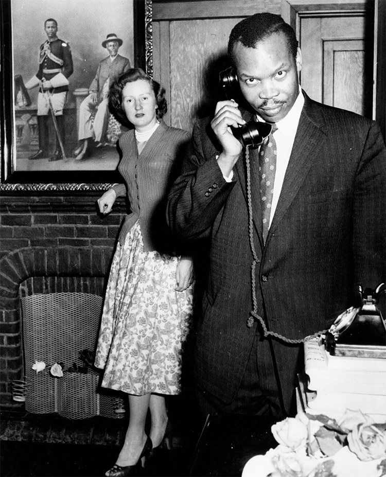 Seretse Khama and Ruth Williams, May 1960