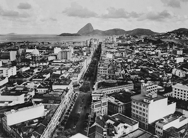 Rio de Janeiro in the early 20th century with the Avenida Central (now Avenida Rio Branco) and the Sugar Loaf mountain in the distance. The Avenida Central, opened in 1904, cut through the heart of the colonial city. Getty/Popperfoto