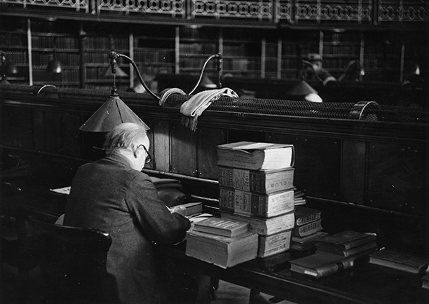 In search of the truth: a scholar at work in the British Museum Reading Room, 1952
