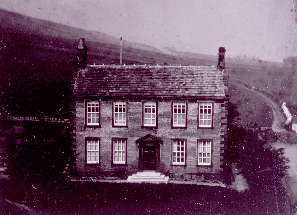 Haworth Parsonage, the Brontë family home, mid-19th century.