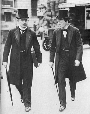 David Lloyd George and Winston Churchill.