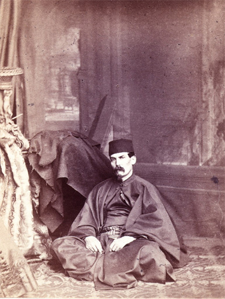 Travelling man: Richard Burton photographed by Ernest Edwards, 1865.