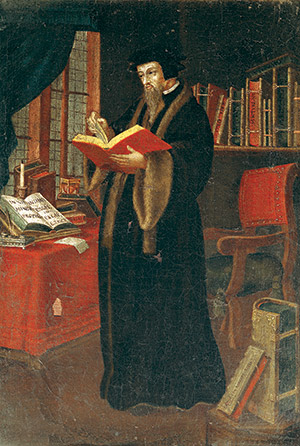 John Calvin in a 16th-century French portrait