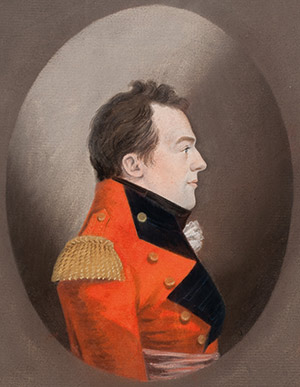 Major-General Sir Isaac Brock K.B., a pastel by Gerrit Schipper, c. 1809-10. Guernsey Museums & Galleries