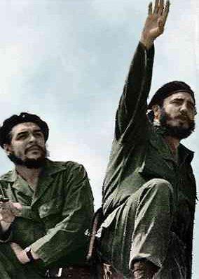 Castro (left) alongside Che Guevara, 1961. Photograph by Alberto Korda